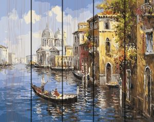 Венецианская прогулка. Картина по дереву