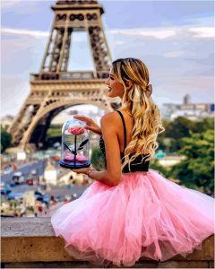С цветком в Париже (в раме) - Babylon Premium