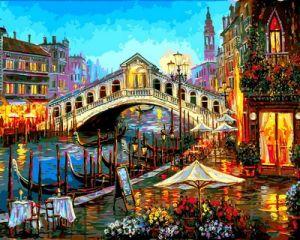 Огни ночной Венеции - Набор для рисования