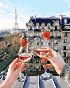 Шампанское и клубника - Картина по номерам Mariposa