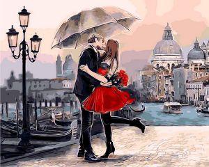 Свидание в Венеции - Картина раскраска