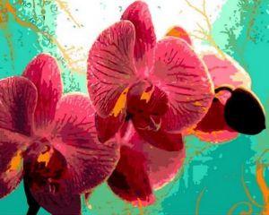 Орхидеи в тропиках - Картина по номерам на холсте