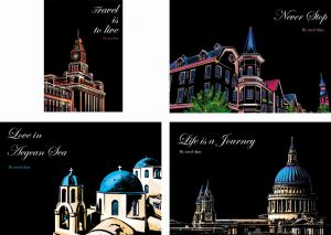 "Скретч-набор из 4-х картин ""Travel Diary"""