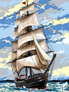 На встречу ветру - Картина раскраска
