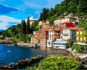 Италия Озеро Комо - Картина по номерам на холсте