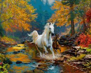 Первая осень - Картина-раскраска