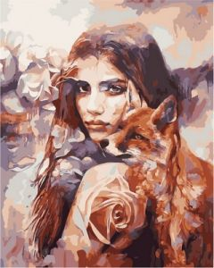 Лисички - Картина раскраска для взрослых