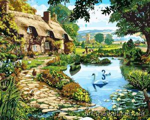 Лебеди на пруду - Набор для рисования