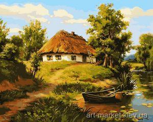 Батьківська хатина (в рамі) - Картина по номерам
