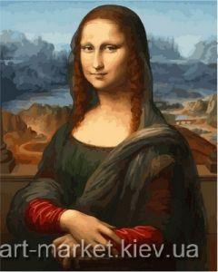 Купить раскраску по номерам VP548 Монна Лиза - Картина-раскраска фото