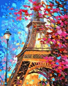 Любимый Париж - Картина раскраска