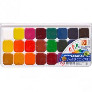Акварель «Классика» 24 цвета «Луч» 21,5x10,5 см