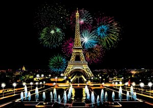 """Цветная скретч-картина """"Firework Paris"""" (Фейерверк в Париже)"""