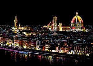 """Цветная скретч-картина """"Florence"""" (Флоренция)"""