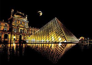 "Цветная скретч-картина ""Louvre"" (Лувр)"