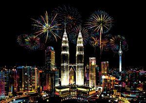 "Цветная скретч-картина ""Malaysia"" (Малайзия)"