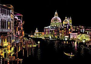 """Цветная скретч-картина """"Romantic Venice"""" (Романтическая Венеция)"""