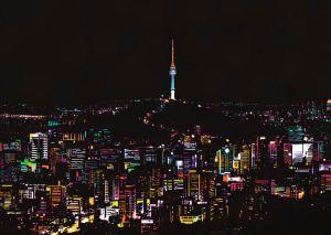 "Цветная скретч-картина ""Seoul"" (Сеул)"