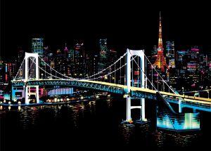 """Цветная скретч-картина """"Tokyo"""" (Токио)"""