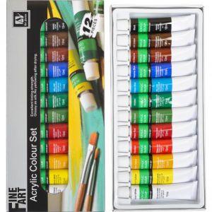 Краски 12 мл «Art Nation» 12 цветов «Acrylie» S-7122