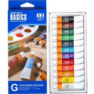 Краски 12 мл BASICS, 12 цветов «Gouache» EG1212C-2