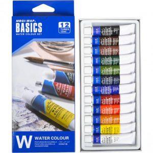 Краски 12 мл BASICS, 12 цветов «Water» CW8013