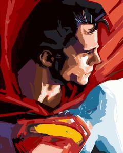 Супермен - Раскраска по цифрам без коробки