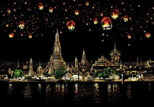 Скретч-картина Chiang Mai (цветная)