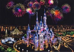 Скретч-картина Dream Castle (Замок Мечты в цвете)