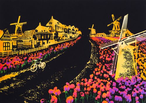 Скретч-картина Holland (Голландия в цвете)
