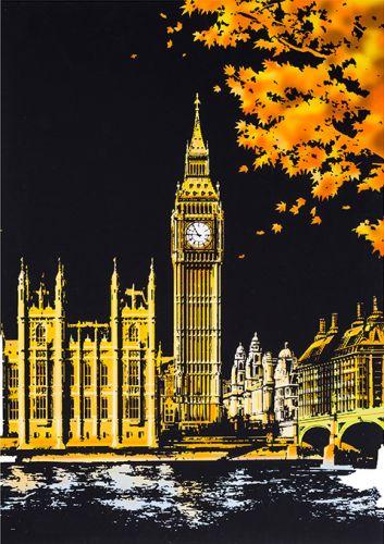"""Скретч-картина """"Big Ben London"""" (Лондон)"""