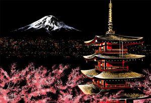 Скретч-картина Mount Fuji (Гора Фудзияма)