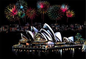 Скретч-картина Sydney Opera House (Сиднейский оперный театр)