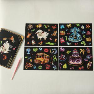 """Скретч набор Yuelu из 4-х скретч-открыток """"Счастливое детство"""""""