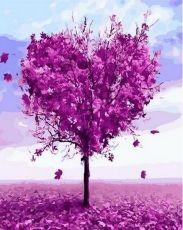 Дерево любви - Картина раскраска