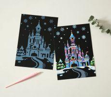 Скретч набор Yuelu из 4-х скретч-открыток