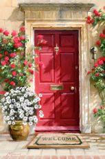 Цветочные двери. Без коробки