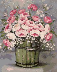 Винтажный букет - Картина-раскраска