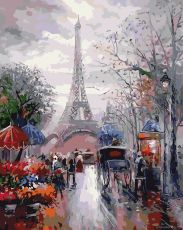 Французская улочка - Картина по номерам