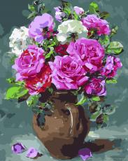 Восхитительные розы - Роспись по номерам