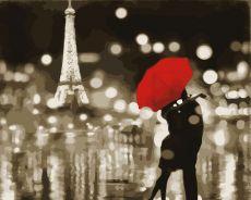 Романтический Париж - Картина-раскраска