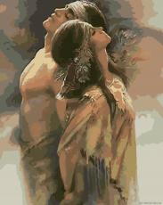 Надёжное плечо - Картина-раскраска
