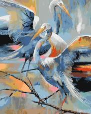 Аисты - Картина по номерам на холсте