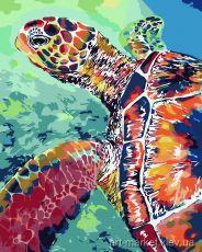 Черепаха - Картина-раскраска