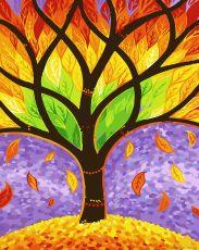 Краски осени - Раскраска по номерам