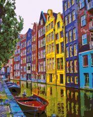 Краски Амстердама - Картина-раскраска
