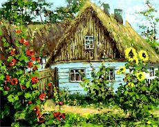 Украинская хата - Картина по цифрам