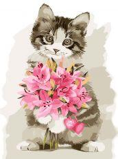 Цветы в подарок - Рисование по номерам без коробки