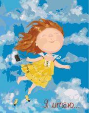 Я летаю - Раскраска по номерам Евгении Гапчинской