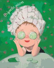 Огуречная маска - Картина раскраска Гапчинская